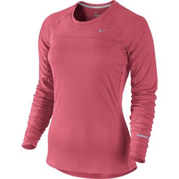 Dámské běžecké triko Nike Miler Dri-Fit UV PINK SKLADEM