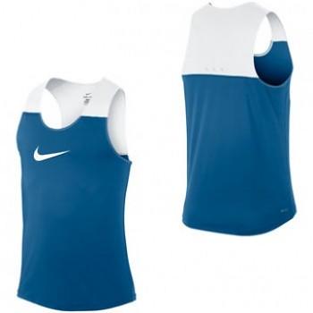 Atletické tílko Nike Dri-Fit Racing BLUE&WHITE