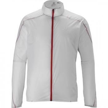 Běžecká bunda Salomon S-LAB LIGHT JACKET M BÍLÁ