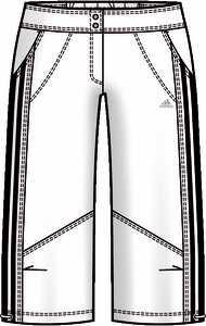 Dámské 3/4 kalhoty Adidas CL Gym Woven Pant E14212 VÝPRODEJ