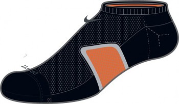 Běžecké ponožky Nike RUN CUSH DYN ARCH NO SHOW SX4300-080