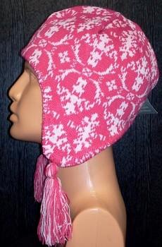 Dámská zimní čepice Surfanic Pig tail hot pink