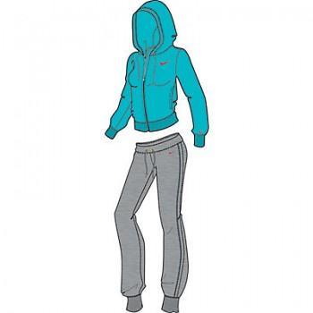 Dámská souprava Nike FT Hooded Warp Up 453084-442 AKCE