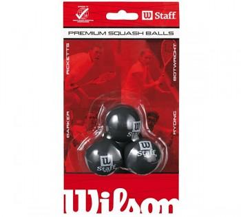Squashové míčky Wilson STAFF SQUASH BALL (3PC) BLUE T9179