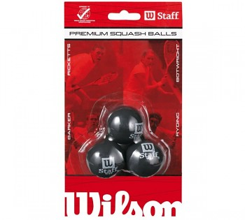 Squashové míčky Wilson STAFF SQUASH BALL (3PC) RED T9179