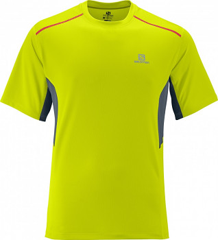 Outdoor triko Salomon START TEE M GECKO GREEN/DARK CLOUD 359316