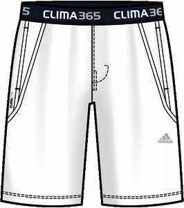 Funkční kraťasy Adidas 365Sig Short WHITE E17961
