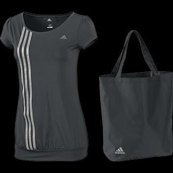 Dárková souprava dámské funkční tričko + taška Adidas P90272