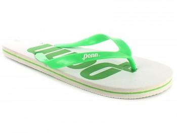 Žabky Penn Large LOGO White/Green SKLADEM