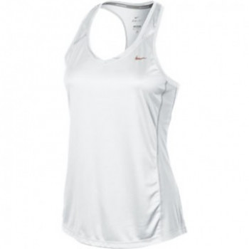 Dámské běžecké tílko Nike MILER TANK SOFT WHITE SKLADEM
