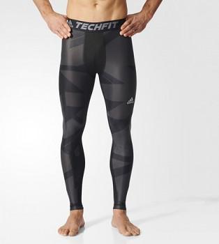 Adidas BK6185 TECHFIT CHILL GRAPHIC běžecké kalhoty